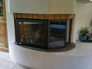 HotFireDoor - Puertas para chimeneas Ruang Makan Gaya Rustic Besi/Baja Black