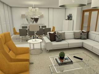 Apartamentos em Angola Salas de estar modernas por Ines Peste arquitectura e design Moderno