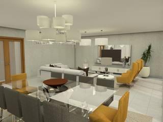Apartamentos em Angola Salas de jantar modernas por Ines Peste arquitectura e design Moderno