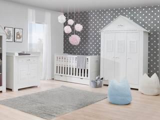 Babyzimmer Kinderzimmer Saint-Tropez MDF weiß Set C: modern  von QMM TraumMoebel,Modern