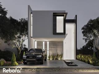Un diseño especial para tu hogar con los acabados que sí reflejan tu personalidad. Casas modernas de Rebora Arquitectos Moderno