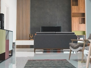 Cilimus Residence Ruang Keluarga Modern Oleh CV. beddo design concept Modern