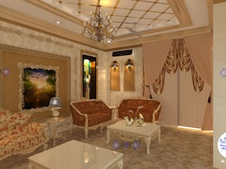 Royal Bunglow Interiors By Futomic Classic style living room by Futomic Design Services Pvt. Ltd. Classic