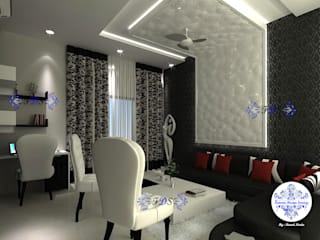 Modern Style Interiors By Futomic Modern living room by Futomic Design Services Pvt. Ltd. Modern