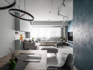 湜湜空間設計 Comedores de estilo moderno Azul