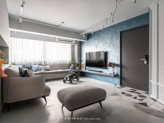 湜湜空間設計 Salas de estilo moderno Azul