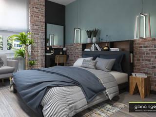 Kamar Tidur Modern Oleh Glancing EYE - Asesoramiento y decoración en diseños 3D Modern