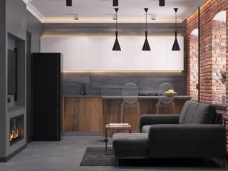 Квартира в стиле лофт Кухня в стиле лофт от Maestro Лофт