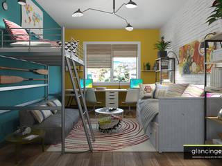 Decoración atrevida estilo Pop Art Glancing EYE - Asesoramiento y decoración en diseños 3D Habitaciones juveniles