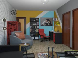 Decoración atrevida estilo Pop Art Glancing EYE - Asesoramiento y decoración en diseños 3D Estudios y despachos de estilo ecléctico
