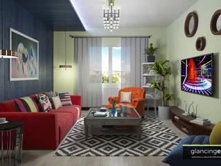 Decoración atrevida estilo Pop Art Glancing EYE - Asesoramiento y decoración en diseños 3D Salones de estilo ecléctico