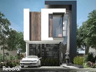 Un hogar moderno con acabados únicos, especialmente para ti. Casas modernas de Rebora Arquitectos Moderno