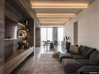 Salas multimédia modernas por Serrano Monjaraz Arquitectos Moderno