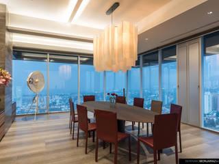 Salas de jantar modernas por Serrano Monjaraz Arquitectos Moderno