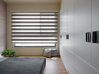 Chambre moderne par 微自然室內裝修設計有限公司 Moderne