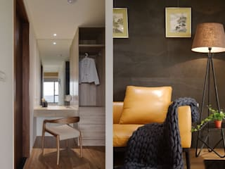 Ruang Ganti Gaya Asia Oleh 微自然室內裝修設計有限公司 Asia