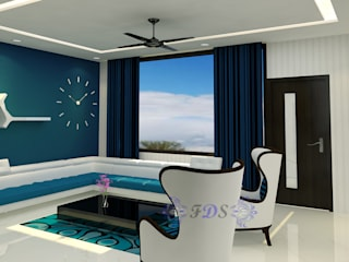Stunning Modern Home Interiors in Delhi By Futomic Modern living room by Futomic Design Services Pvt. Ltd. Modern