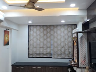 1 BHK @ Koperkhairane Modern living room by Taathastu Space LLP Modern