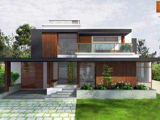 Raj House Modern houses by chain tree architects Modern
