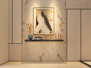 現代風玄關、走廊與階梯 根據 Norm designhaus 現代風