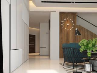 Norm designhaus Corredores, halls e escadas modernos