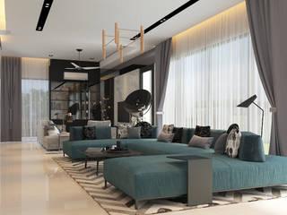 现代客厅設計點子、靈感 & 圖片 根據 Norm designhaus 現代風