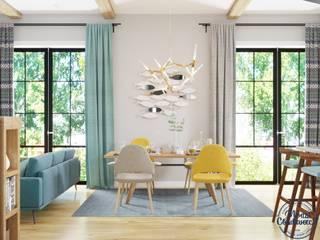 Country style living room by Компания архитекторов Латышевых 'Мечты сбываются' Country