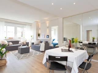 Home Staging en vivienda para venta en Barcelona Salones de estilo moderno de Lala Decor HomeStaging & Reformas Integrales de pisos Moderno