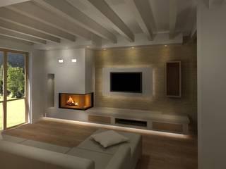 Monoblocco MCZ Plasma 95 dx/sx wood Soggiorno moderno di Michelessi srl Moderno