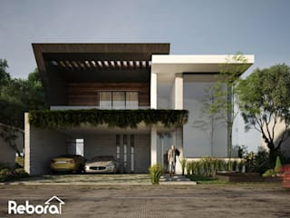 Elige un diseño de casa moderna envuelta en naturaleza e innovadores detalles. Casas modernas de Rebora Arquitectos Moderno
