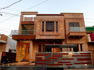 RAVI - NUPUR ARCHITECTS Bungalows Piedra Beige