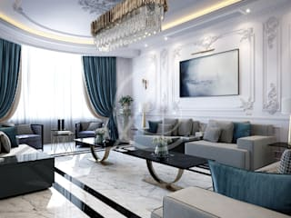 Luxury Neoclassical Palace Interior Design 클래식스타일 거실 by Comelite Architecture, Structure and Interior Design 클래식