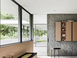 Arredo bagno in stile minimale Bagno minimalista di Meka Arredamenti Minimalista