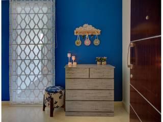 Mr. Raghavan's Modern Indian Home Interiors Asian style media room by Dream Interiors - Interior Designers in Coimbatore Asian