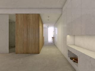 Casa para dos | Valencia, Spain estudio calma Pasillos, vestíbulos y escaleras de estilo escandinavo