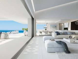 Soluciones Inmobiliarias Caliber & Partners Salones de estilo moderno