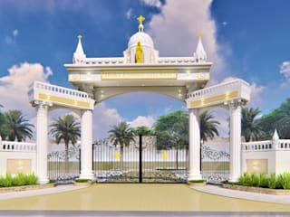 Church Entrance Arch Design by BRISTAN ARCHITECTS & INTERIOR DESIGNERS Colonial