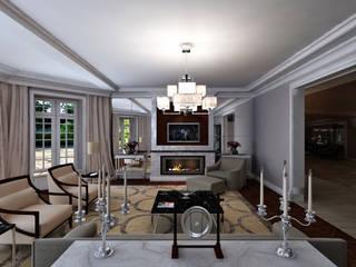 Гостиная в частном доме Гостиная в классическом стиле от Студия дизайна интерьеров Классический