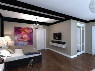 Спальня. Частный дом. Спальня в эклектичном стиле от Студия дизайна интерьеров Эклектичный