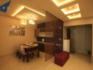 Brigade Gardenia Annexe 3bhk Modern dining room by Larq Design Pvt Ltd Modern
