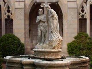 """Скульптурный фонтан из натурального камня """"Крещение Иисуса"""" от Нерис СпаАрт Классический"""