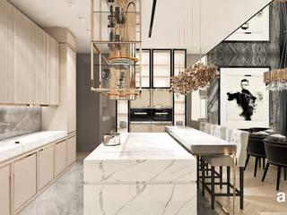 ARTDESIGN architektura wnętrz Cocinas de estilo moderno