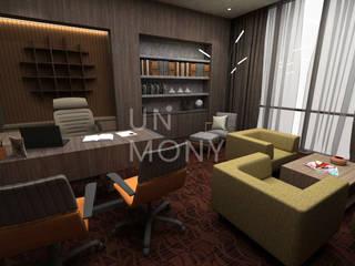 Personalisasi ruang kerja Kantor & Toko Modern Oleh unimony.id Modern