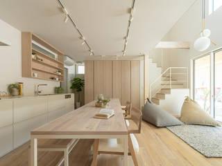 Scandinavian style dining room by FANFARE CO., LTD Scandinavian