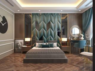 YATAK BAŞLIKLARI DUVAR PANELİ UYGULAMASI Modern Yatak Odası Caprıola Modern