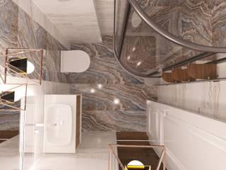 Banyo Tasarımı Kut İç Mimarlık İskandinav Banyo Mermer Bej