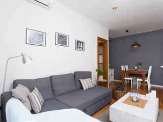 Decoración Integral piso 2hab. para alquiler en Gracia de Lala Decor HomeStaging & Reformas Integrales de pisos Escandinavo
