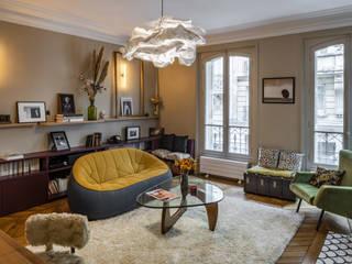 St Germain 4eme Mur-Intérieurs Salon moderne Beige
