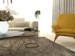 Projeto 3D - Sala de Estar Salas de estar modernas por Móveis Santa Comba Moderno