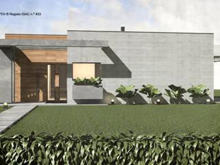 ATELIER OPEN ® - Arquitetura e Engenharia Landhäuser Holz Holznachbildung